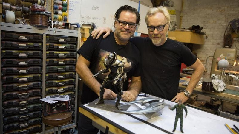 Aaron Douglas (left) and Adam Savage
