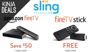 Illustration for article titled Sling TV's Giving Away Roku and Amazon Streaming Sticks