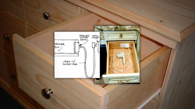 Install An Outlet In A Drawer For Convenient Gadget