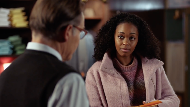 From right to left: James Remar as Peter Gambi and Nafessa Williams as Anissa Pierce in Black Lightning.