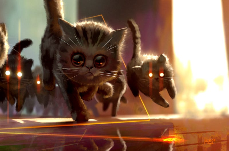 Illustration for article titled Cats are truly terrifying