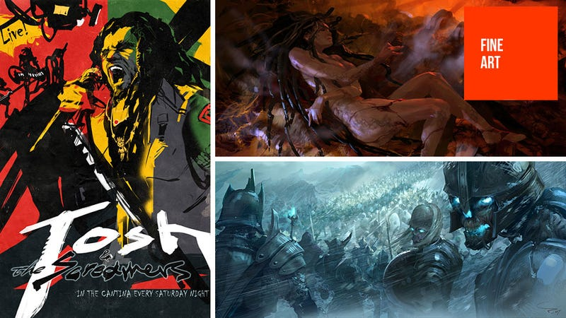 Illustration for article titled From StarCraft to WarCraft, This Concept Art Certainly Knows its Crafts
