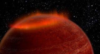 Illustration for article titled Descubren una aurora un millón de veces mas brillante que en la Tierra