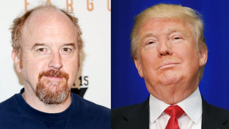 Illustration for article titled Louis C.K. Took a Long, Rambling Swing at Donald Trump in His Newsletter