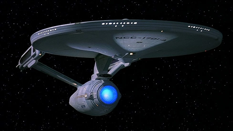 The refit Enterprise.