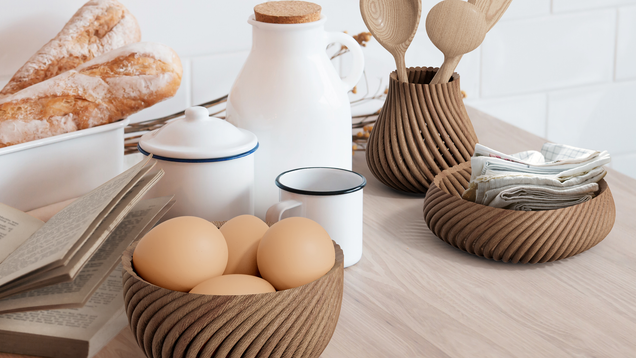 A New Printer Uses Sawdust to Print Wooden Objects