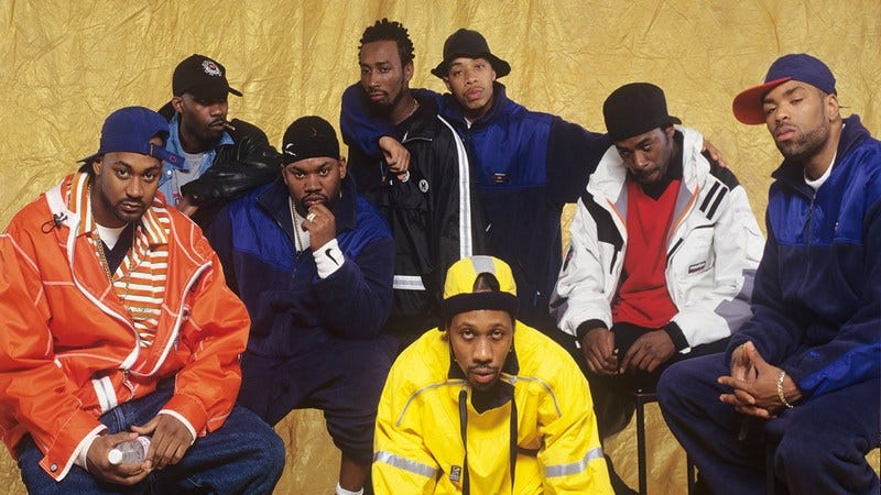 The Wu-Tang clan in the 1990's.