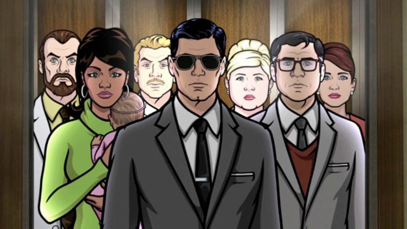 "Illustration for article titled Archer gets ""un-rebooted"" in its sixth season premiere"
