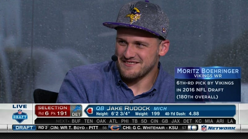 Illustration for article titled In An NFL First, The Vikings Just Drafted A Receiver Straight Out Of Germany