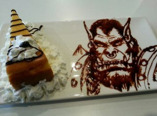 Illustration for article titled Chocolate Sauce Creates Incredible Video Game and Anime Art