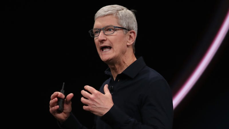 Apple CEO Tim Cook at the Worldwide Developer Conference (WWDC) in San Jose, California on June 3, 2019