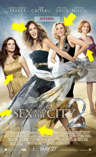 Illustration for article titled New Sex And The City 2 Poster: A Photoshop Oasis