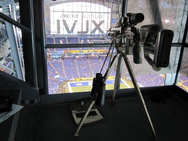 This Looks Like A Fortified Sniper S Nest At The Super Bowl