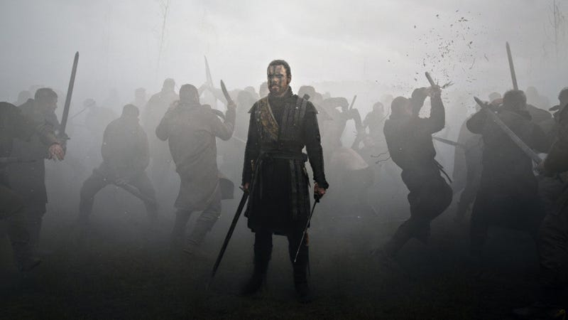 Illustration for article titled Michael Fassbender Plays Macbeth, in a Gorgeous Movie About the Horror of Surviving War