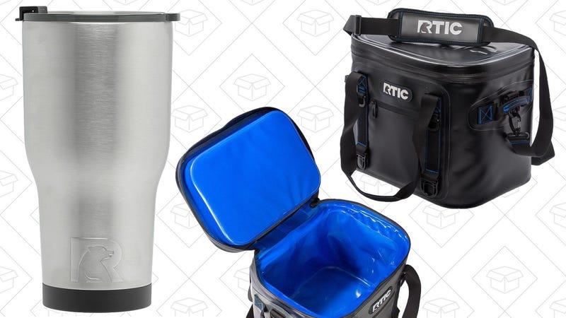 RTIC Vacuum Insulated 30 oz. Tumbler   $8   AmazonRTIC 20 Soft Pack Cooler   $82   AmazonRTIC 30 Soft Pack Cooler   $101   AmazonRTIC 40 Soft Pack Cooler   $124   Amazon