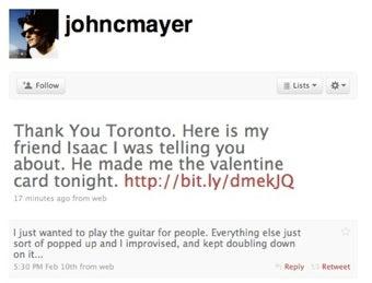 Illustration for article titled John Mayer Is Back Online, Still A Jerk