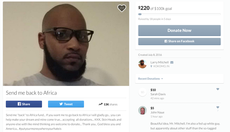 Larry MitchellGoFundMe screenshot