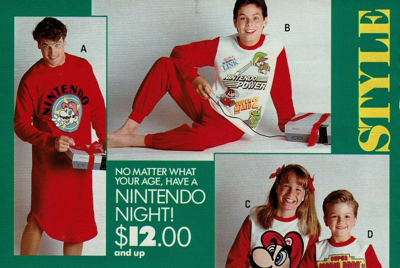 Illustration for article titled Bury Me In These 1980s Nintendo Pyjamas