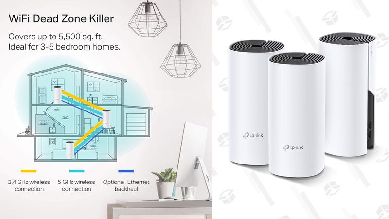 TP-Link Deco Whole Home Mesh WIFI System 3-Pack | $160 | Amazon | Clip the coupon code | Amazon Credit Card Users Get 15% Cash Back