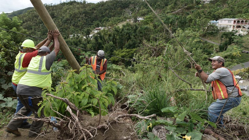 Work continues on Puerto Rico's grid.