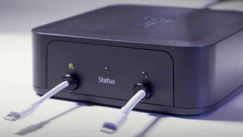 Un dispositivo GrayKey facilitado por la firma de seguridad MalwareBytes. Foto: Thomas Reed/MalwareBytes