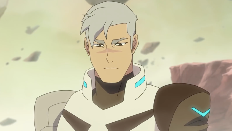 The newly white-haired Shiro having a moment of contemplation.