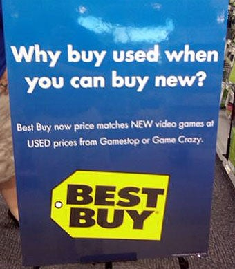 Illustration for article titled Best Buy Now Matching GameStop's Used Prices On New Games