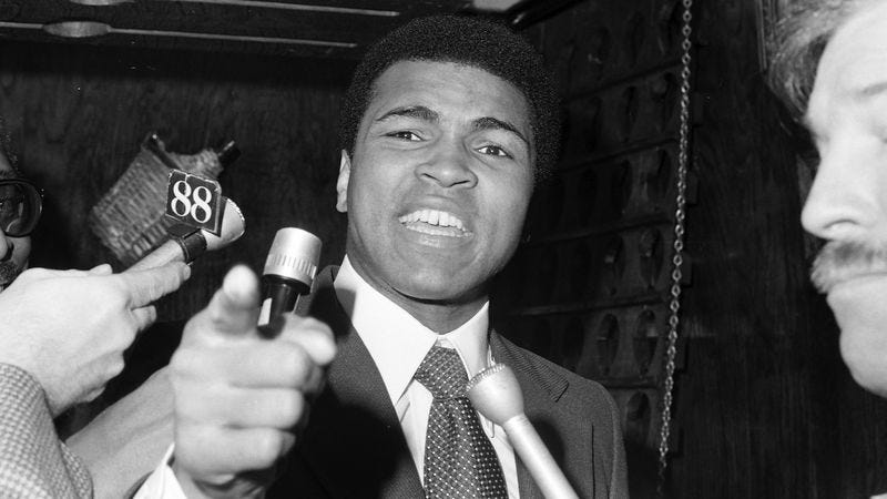 Illustration for article titled Dozens Of Social Issues Thankful They Never Had To Go Toe-To-Toe With Muhammad Ali