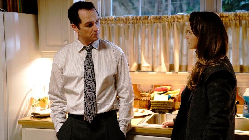 Matthew Rhys (left), Keri Russell