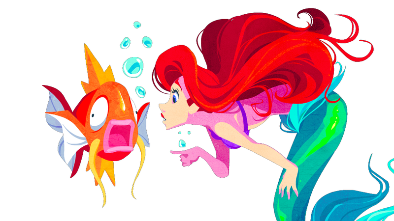 Illustration for article titled If Disney Characters Were Pokemon Trainers...
