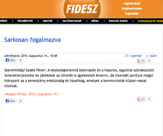 Illustration for article titled Misztikus jelenségek a Fidesz weboldalán