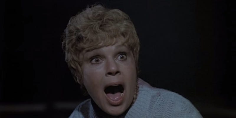 Image: screen cap of the great Betsy Palmer as Pamela Voorhees in Friday the 13th (1980).
