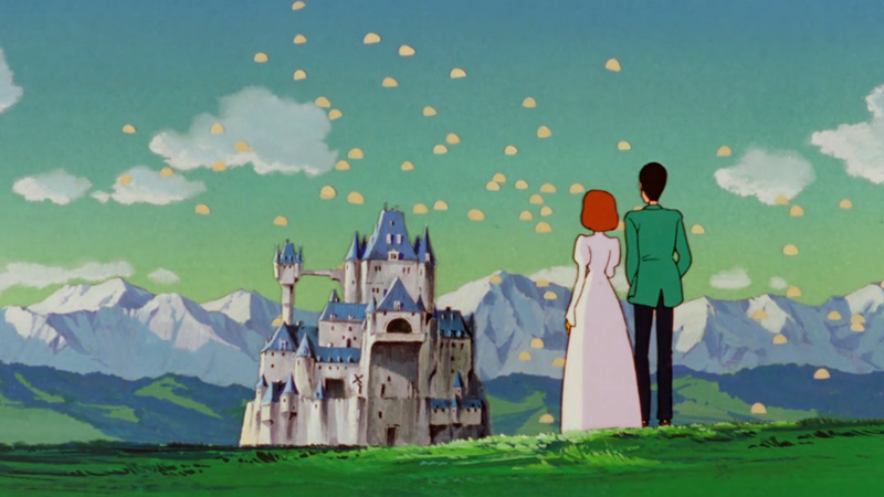 Lupin and Clarisse watch Interpol agents swoop in to try and hunt him down.