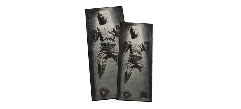 Illustration for article titled This Rug Encases Han Solo in Carbonite On Your Living Room Floor