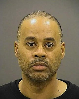 Officer Caesar Goodson Jr. poses for a mug shot on May 1, 2015, in Baltimore.Handout from Baltimore Police Department via Getty Images