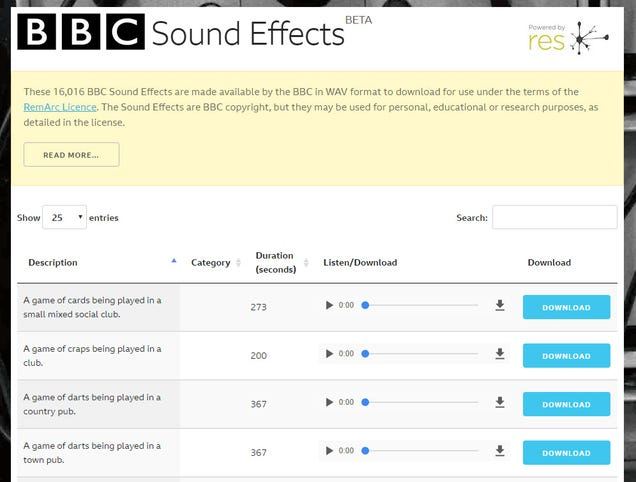 Download Over 16,000 Free Sound Effects From This BBC Archive