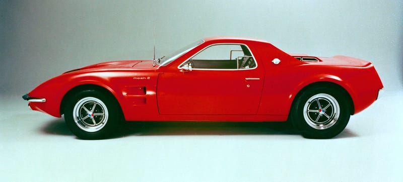 Illustration for article titled The Ford Mustang Mach 2 Was The Mid-Engined Pony Car No One Asked For