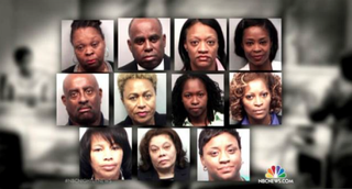 Eleven Atlanta educators were found guilty April 1, 2015, of falsifying documents and changing students' exam answers to improve test scores.NBC Nightly News