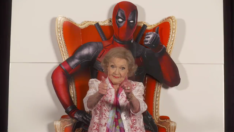 Illustration for article titled Deadpool Just Got a Thumbs Up from the Only Critic Who Matters: Betty White