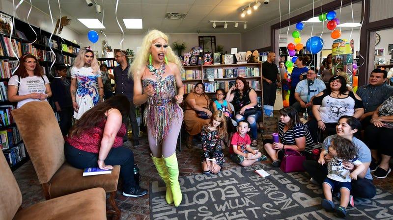 Drag Queen Story Hour at Cellar Door Books in Riverside, California on June 22, 2019.