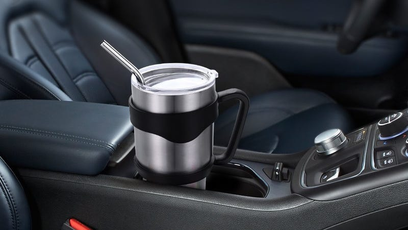 Homitt 30 oz. Tumbler With Lid, Handle, and Two Straws, $13 with code PH2RJ8UD