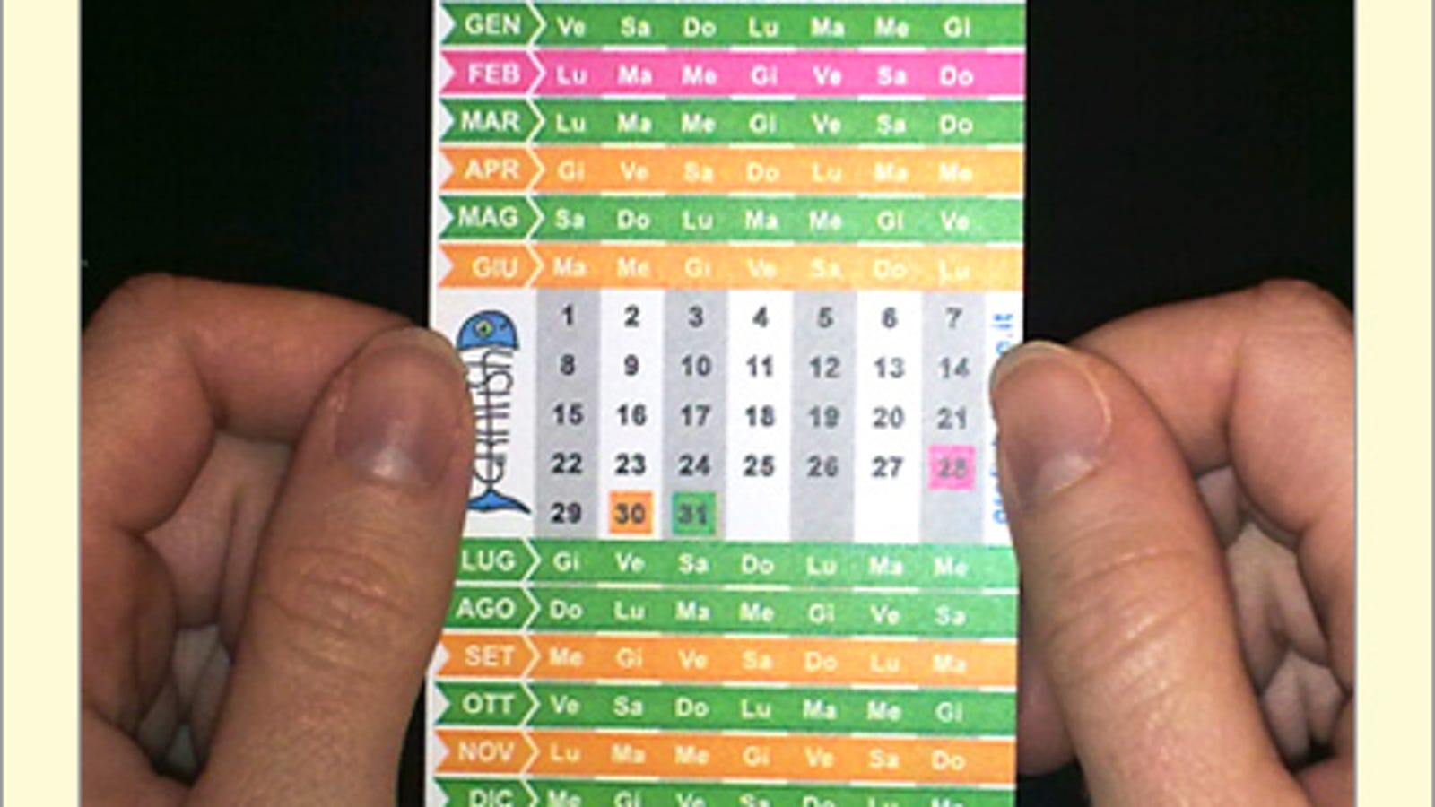 The Small Calendar Puts A Whole Year On A Business Card