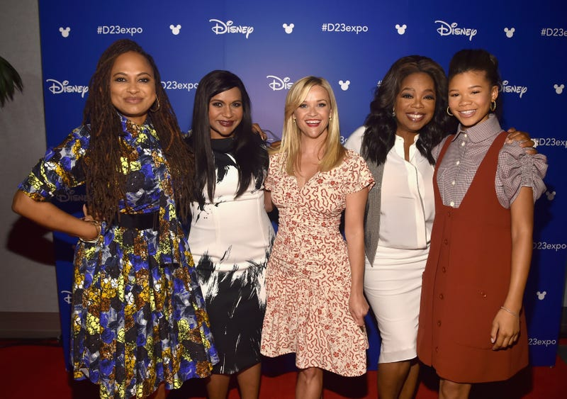 Director Ava DuVernay, and actors Mindy Kaling, Reese Witherspoon, Oprah Winfrey and Storm Reid of A Wrinkle in Time March 9, 2018 (Alberto E. Rodriguez/Getty Images for Disney)