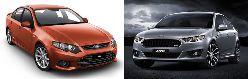 Illustration for article titled How different is the 2014 Ford Falcon facelift from FG?
