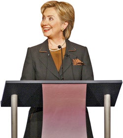Illustration for article titled Democratic Candidates Turn On Clinton