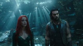 Aquaman and Mera are impressed.