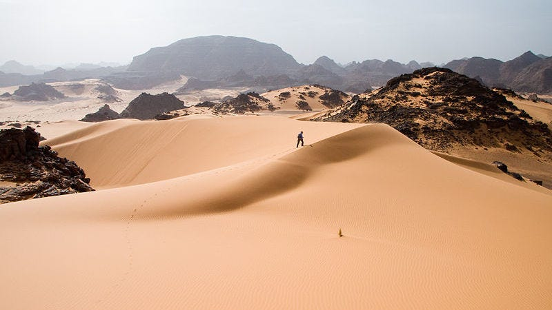 The Sahara desert in western Libya
