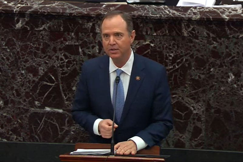 House impeachment manager Rep. Adam Schiff (D-CA) speaks during impeachment proceedings against U.S. President Donald Trump in the Senate at the U.S. Capitol on January 21, 2020, in Washington, DC.