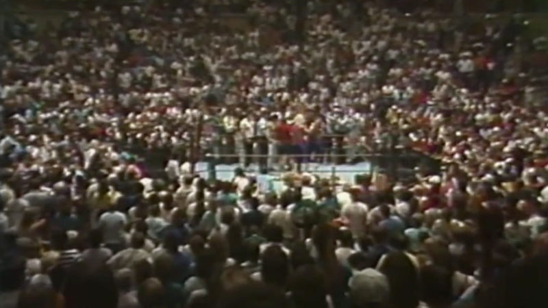 """On May 9, 1988, every fan in the Mid-South Coliseum is rose to their feet for the new AWA World Heavyweight Champion, Jerry """"The King"""" Lawler."""