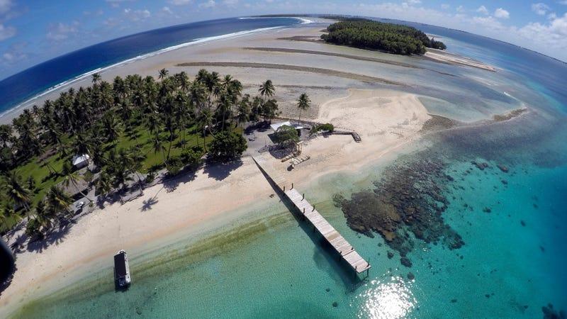 Majuro Atoll in the Marshall Islands